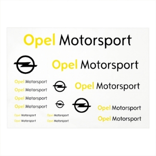 Picture of Motorsport sticker sheet, DIN A4