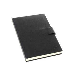 Bild von Leder-Notizbuch DIN A5, schwarz