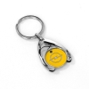 Picture of OPEL key fob with shopping trolley chip, yellow