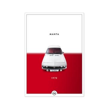 Afbeeldingen van Poster Historic. Manta, DIN A2