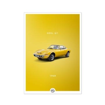 Image de Poster Historic, Opel GT, format A2