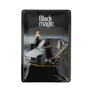 Afbeelding van Emaillen bord, Manta A Black Magic