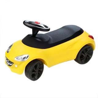 Afbeelding van Little Adam, geel, zwarte wielen